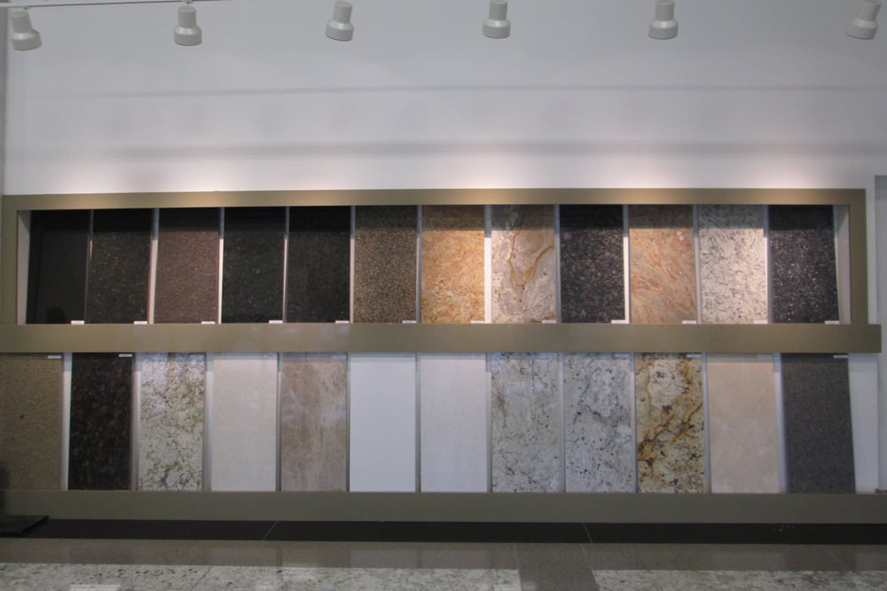 ATT Stoneworks interior sample display wall