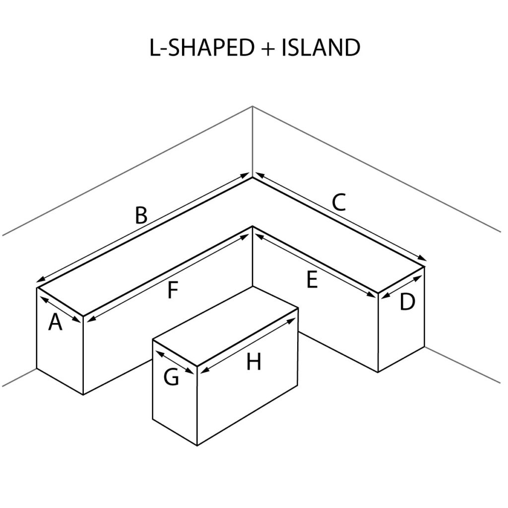 L-Shaped and Island Countertops