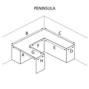 Peninsula Shaped Countertop