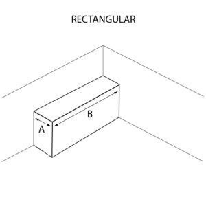 Rectangular Shaped Countertop