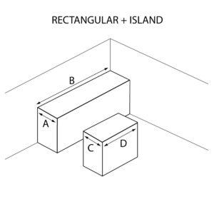 Rectangular Shaped and Island Countertops