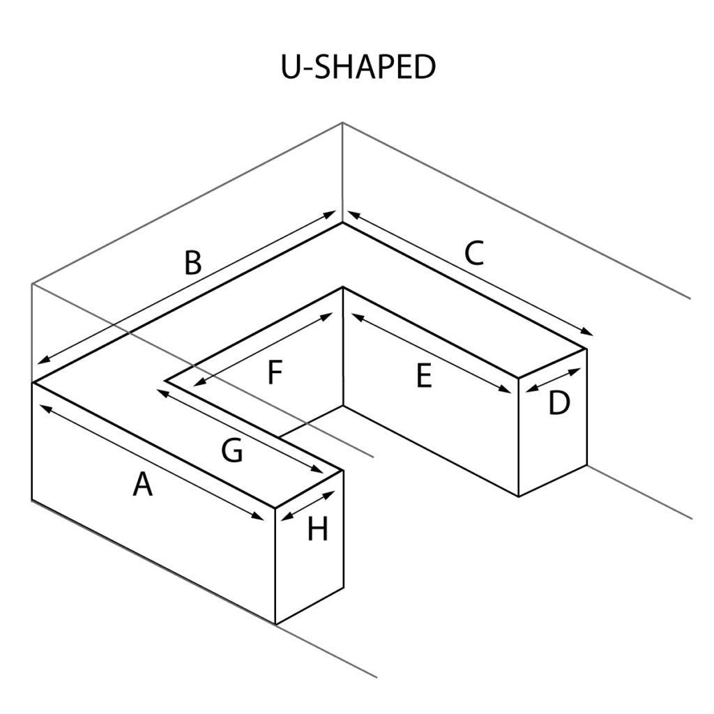 U Shaped Countertop