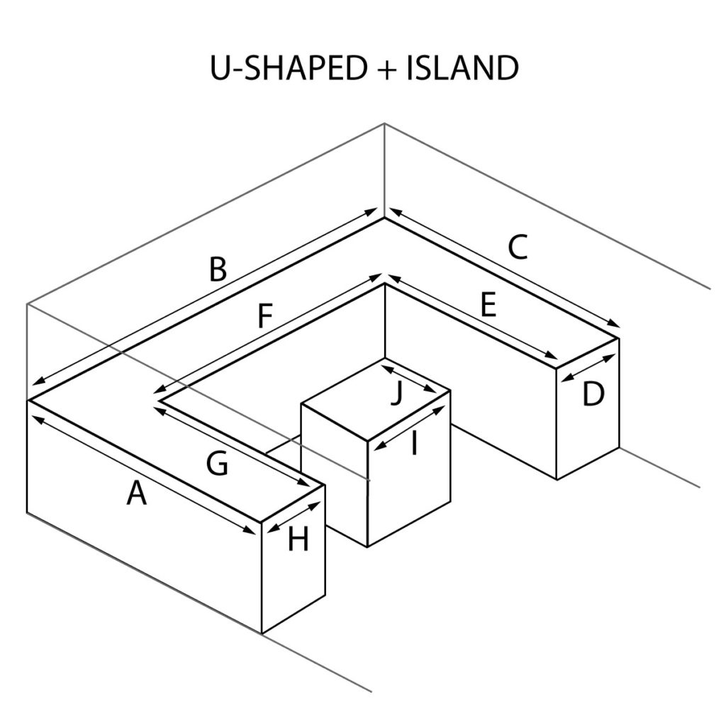 U Shaped and Island Countertops
