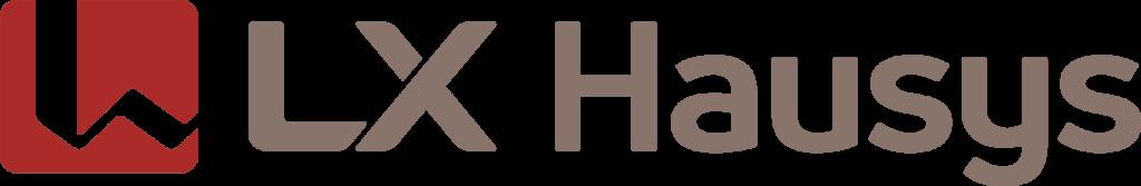 LX Hausys horizontal colour logo with transparent background